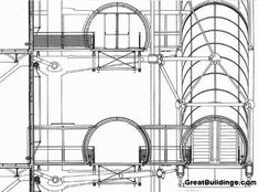 Gallery of AD Classics: AD Classics: Centre Georges Pompidou / Renzo Piano Building Workshop + Richard Rogers - 12 Paris Architecture, Architecture Portfolio, Architecture Drawings, Architecture Plan, Architecture Details, Architecture Diagrams, Renzo Piano, Georges Pompidou Centre, Piano Stairs