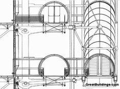 AD Classics: AD Classics: Centre Georges Pompidou,Detail Drawing