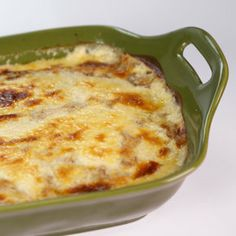 Crepe Lasagna - The Chew - Michael Symon - More like a Greek Pastitsio - but made with leftover crêpes instead of pasta as the base - a savory meaty casserole with béchamel sauce