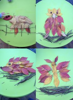 Natural art animal pictures   Daisies & Pie Use leaves and twigs to create some fab natural art - kids of all ages love this activity