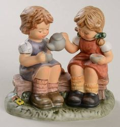 Goebel Berta Hummel Figurines Tea Time - Boxed