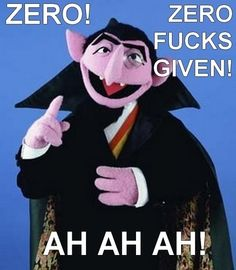 Count von Count laying down the law!