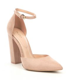 04cb9a230fd6 ALDO Nicholes TwoPiece Ankle Strap Block Heel Pumps  Dillards Ankle Strap  Heels