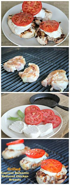 Delicious and AMAZING Grilled Caprese Balsamic Chicken Breasts. Simply AMAZINGLY delicious!