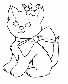 coloring pages for kids kids coloring pages free printable easter bow kitty coloring page - Free Printable Childrens Coloring Pages