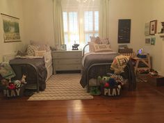 Old Southern House. Shared boys bedroom. Vintage. Industrial. Antique. Historic Home. On a budget.