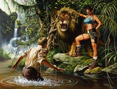 Tomb Raider / The Greatest Treasure of All / Jungle Apparition / 2000 (Joe Jusko)