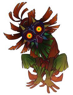 majora's mask commission! why dont i draw more zelda what is wrong with me Majora Mask, Zelda Tattoo, Princesa Zelda, Mask Tattoo, Tattoo Project, Legend Of Zelda Breath, Link Zelda, Masks Art, Video Game Art