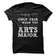 Awesome Arts Major T Shirts, Hoodie