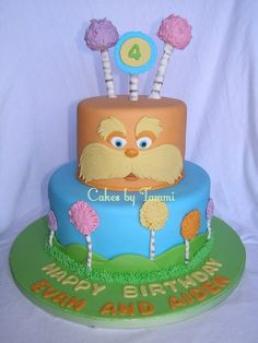 The Lorax - by Cakes by Tammi @ CakesDecor.com - cake decorating website