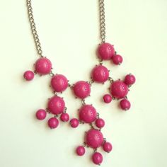 Bubble statement necklace Pink bubble necklace. Never been worn. Jewelry Necklaces