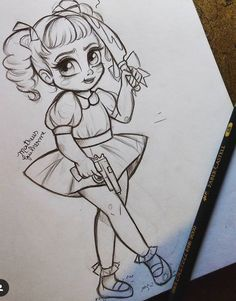 This is adorbs as it is creepy XD Girl Drawing Sketches, Pencil Art Drawings, Cartoon Drawings, Cute Drawings, Melanie Martinez Mad Hatter, Crybaby Melanie Martinez, Melanie Martinez Drawings, Baby Fan, Cry Baby