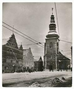 Insterburg, Alter Markt, Lutherkirche im Winter