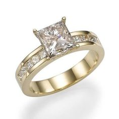 2 1/4 Carat VS2 Real Diamond Engagement Ring W/ Accents Size 5.5 6 6.25 6.5 on Etsy, $5,305.85