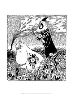 Art Print: Vintage Moomin Illustration by Tove Jansson : Tove Jansson, Art And Illustration, Book Illustrations, Les Moomins, Cool Posters, Art Posters, Photo Wallpaper, Oeuvre D'art, Beautiful Day