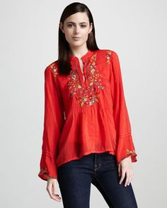 a2452e36e86 Johnny Was Collection Tali Embroidered Tunic