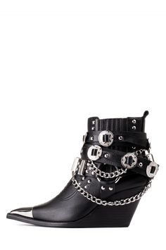 Jeffrey Campbell Shoes HAWTHORNE in Black Silver