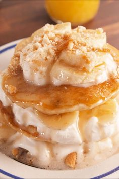 Banana Pudding Pancakes vertical