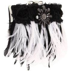 Inspired by Claire Jane Flapper Feather Purse ($240) found on Polyvore