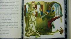 """Rumpelstiltskin,"" illustrated by Louis Glanzman. From Shirley Temple's Storybook. New York: Random House, Rumpelstiltskin, Random House, Children's Books, York, Illustration, Artist, Painting, Artists, Painting Art"