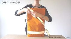 This video shows the different ways to use and wear the ORBIT VOYAGER bag by SPUTNIK ZURICH.