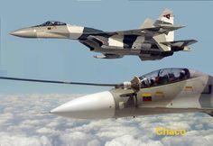 Sukhoi Su-30Mk2 re-abastecimiento