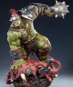 Gladiator Hulk, Figure Poses, Hulk Marvel, Custom Action Figures, 3d Artist, Character Modeling, Incredible Hulk, Dnd Characters, Sculpting