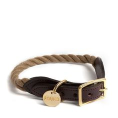 Handcrafted in Brooklyn, NY, this nautical inspired collar is constructed from U.S. manufactured marine-grade rope, domestic leather, and 100% solid brass hardware. Each collar and lead has an individ