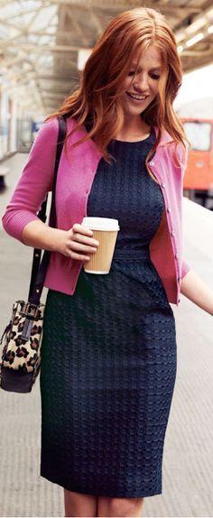 2cc622cbf06 sheath dress with cardigan - Google Search Pink Cardigan