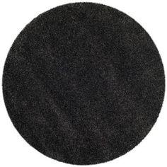 Safavieh Milan Shag Dark Grey 5 ft. x 5 ft. Round Area Rug - SG180-8484-5R - The Home Depot