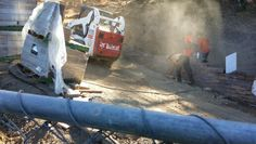 It takes a team to build a #retainingwall
