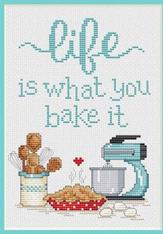 Punto De Cruz Sue Hillis Designs - Life – Stoney Creek Online Store - -Stitch on your favorite fabric! -Stitch count x x on -Stitched with DMC floss: white 415 598 938 317 435 712 3033 349 436 738 3799 350 437 739 3811 414 597 762 Cross Stitch Quotes, Cross Stitch Pictures, Simple Cross Stitch, Cross Stitch Kits, Cross Stitch Designs, Cross Stitching, Cross Stitch Embroidery, Embroidery Patterns, Hand Embroidery