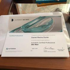 Hace ya un mes de esto hoy me han mandado el #certificado. A month ago of this today I received the #certificate @autodesk @cice_escuela #certified #3dmax #professional #max #gamedeveloper #gamedesign #diseñadordevideojuegos #diploma