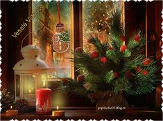 a gorgeous picture to celebrate the christmas holiday. Merry Christmas And Happy New Year, Christmas Past, Christmas Balls, Happy Holidays, Christmas Holidays, Holiday Lights, Christmas Lights, Holiday Decor, Christmas Windows