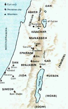 Free Bible Maps Israel During Judges