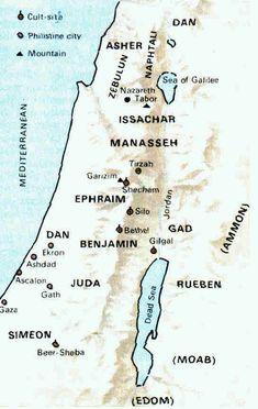 Free Bible Maps Israel During Judges
