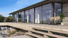 Bilderesultat for jacuzzi nedsänkt altan bohuslän House On The Rock, House With Porch, Sweden House, Ranch Remodel, Weekend House, Timber House, Small House Design, Scandinavian Home, Little Houses