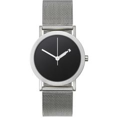 At first glance, it is an elegant, minimal watch. But things are not so simple. A subtle effect is taking place as elusive numbers pass in and out of view. The hour ''hand'' is actually a disk, with the hand silhouette reversed out, exposing the numbered face beneath. £140.00