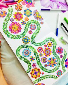 """""""Finally, a day off where I can just stay at home. #coloring #destress…"""