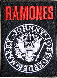 RAMONES Band Heavy Metal Punk Rock Logo Sign Patch Iron o...