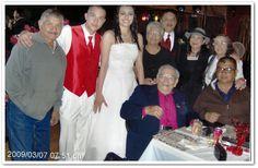 Joe Louis, David and his bride,  David Sr., Tomasita, Betty Ann,  Martha,  Junior,  Armando (son of  Joe Louis).  This photo was contributed by Junior (J.D.) Medina.
