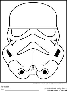 Star Wars Colouring Pages Stormtroopers Mask Masque Coloring Book