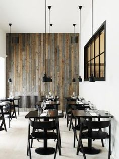 Wooden feature wall & #monochrome style = modern style