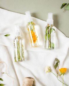 All-Natural Room Spray | Martha Stewart - This scented spray is made with only three simple ingredients! Give your linens, bedroom, or even the air at home a refreshing spritz without using harsh chemicals. #essentialoils #naturalhome #aromatherapy