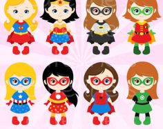 Superhero Digital Clipart Superhero Clipart Super by Cutesiness