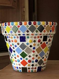 Mosaic Pots This Terracotta Pot Is 26cm 10 Inches Tall