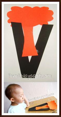Simply-hood: Craft : Letter V - Volcano