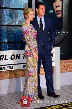 Emily Blunt and Luke Evans at the world premiere of 'The Girl on the Train' held at Odeon Cinema, Leicester Square, London, United Kingdom - Tuesday 20th September 2016