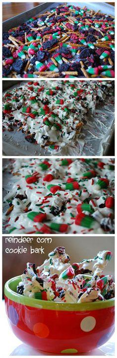 Reindeer Corn Cookie Bark