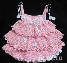 Платье «Красавица саванна» крючком от Юлии Новиковой » Ниткой - вязаные вещи для вашего дома, вязание крючком, вязание спицами, схемы вязания
